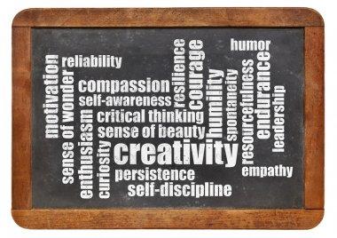 personal qualities word cloud