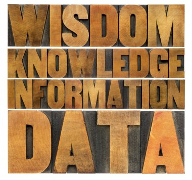 data, information, knowledge,  wisdom