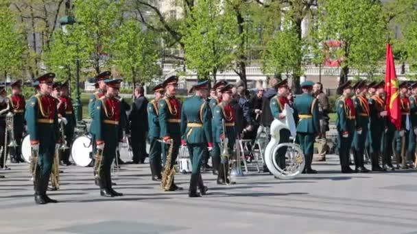 Soldaten und militärische Brass-band