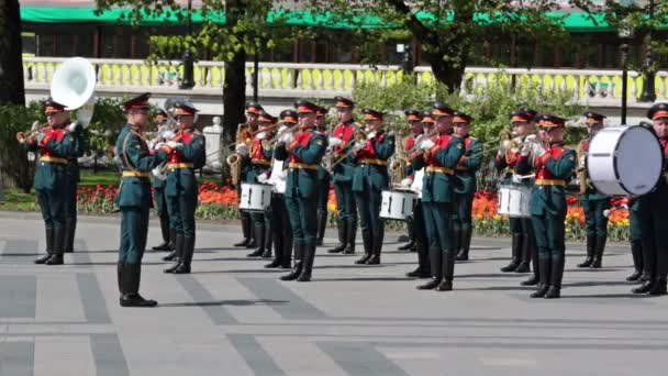 Kreml-Brass-Band bei der Zeremonie