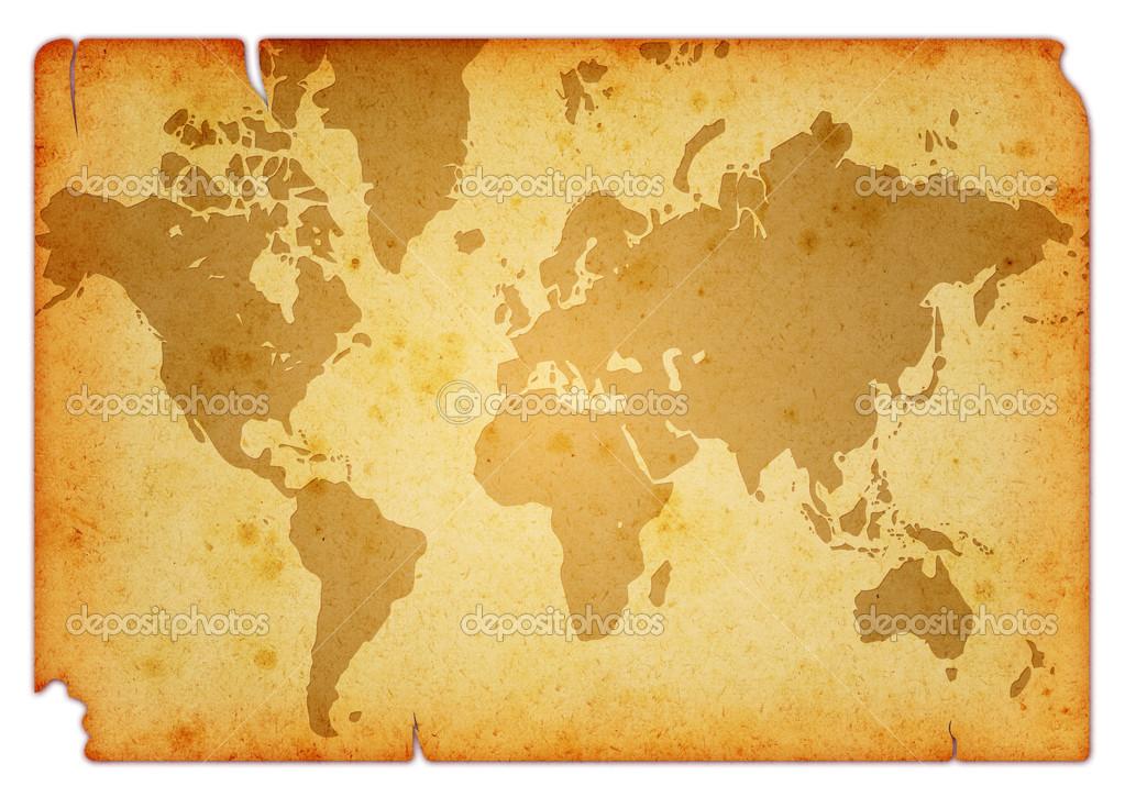 Grunge world map stock photo gpimages 23263734 computer designed grunge world map background isolated on white photo by gpimages gumiabroncs Choice Image