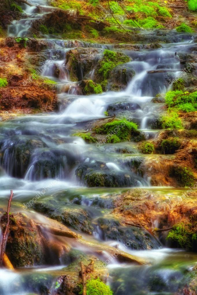 Beautiful waterfalls at Plitvice Lakes