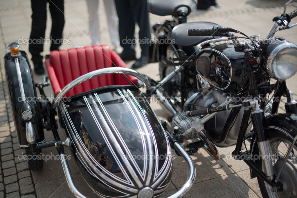 bmw moto sidecar classico — foto editoriale stock © franky242