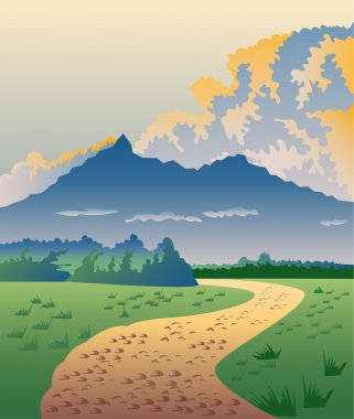 Road Leading to Mountains