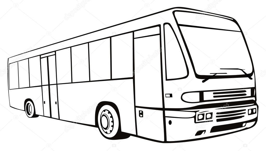 Картинка как нарисовать автобус дальнего следования всем повезло