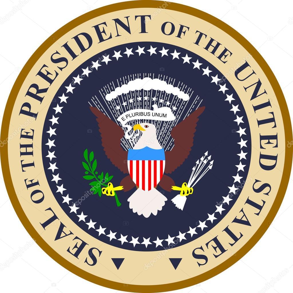 sello del Presidente de los Estados Unidos de América — Vector de ...