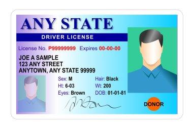 generic male state driver license