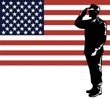 American Solder Serviceman Saluting