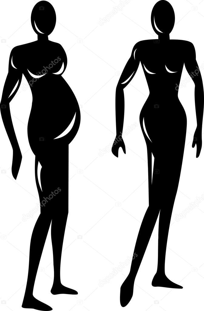 Häufig silhouette femme bâton — Image vectorielle #28936303 JZ44