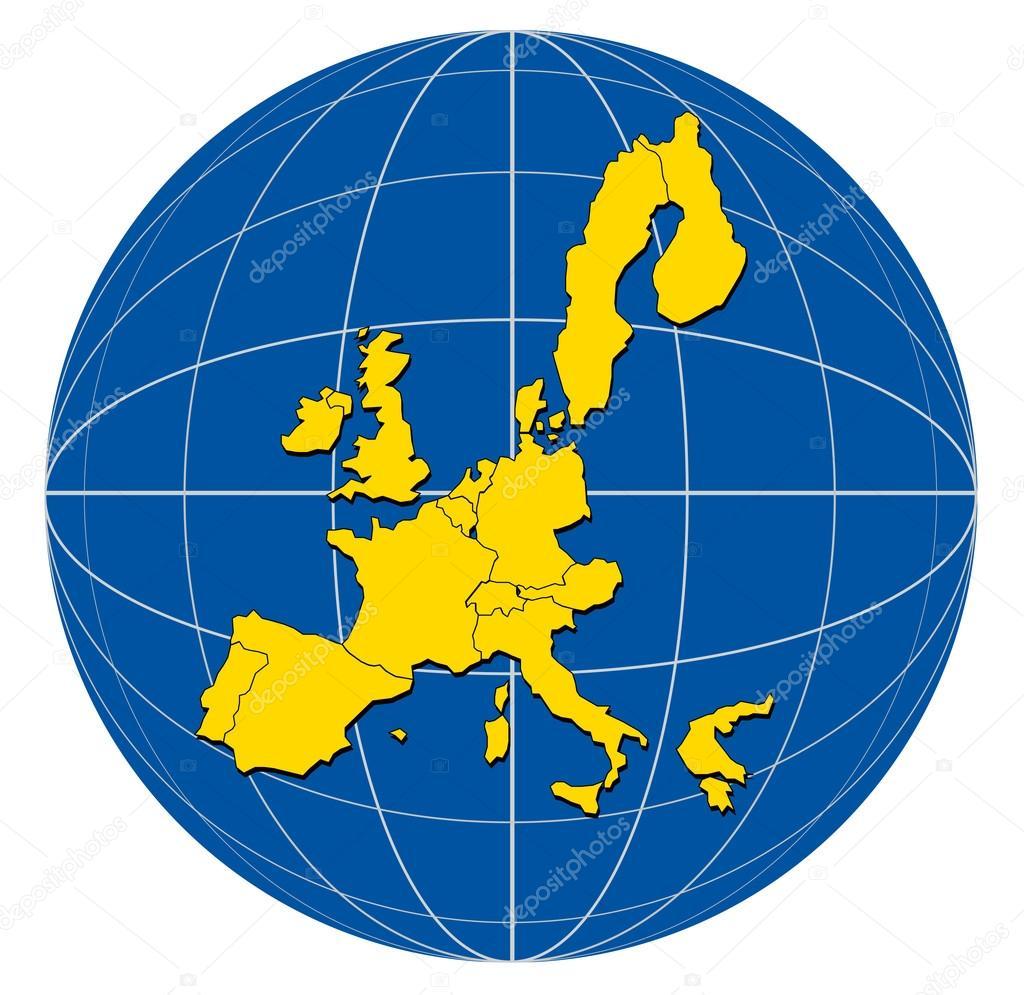 Karta Varlden Europa.Varlden Europa Karta Stockfotografi C Patrimonio 30006737
