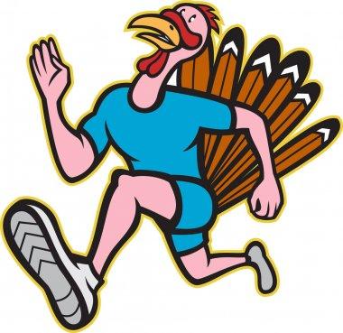 Turkey Run Runner Side Cartoon Isolated