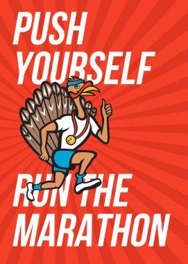 Turkey Run Marathon Runner Poster