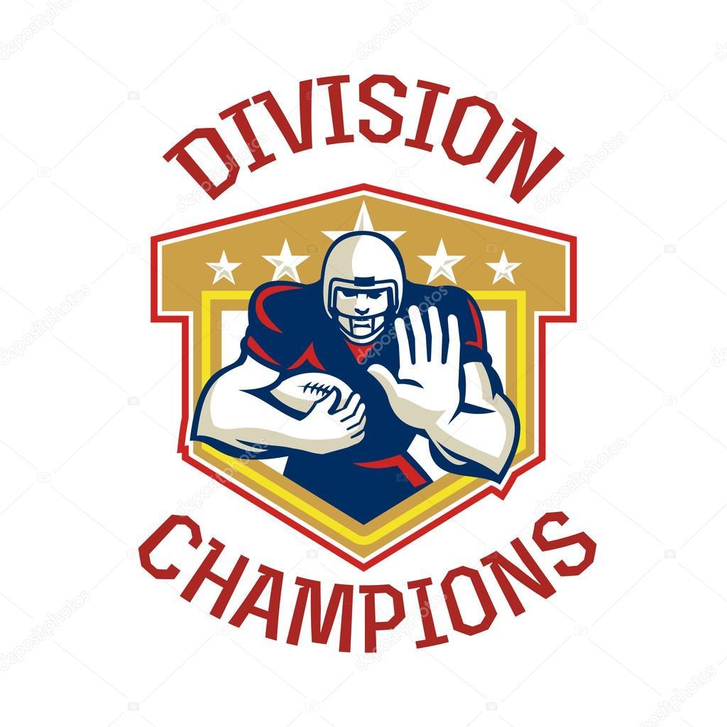 American Football Division Champions Shield Stock Photo