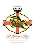 slavíme sv. Jiří hrdý na anglický retro plakátu