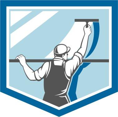 Window Cleaner Washer Worker Shield Retro