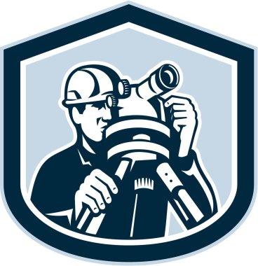 Surveyor Surveying Theodolite Shield Retro