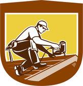 Dachdecker Dachdecker Wappenschild Retro