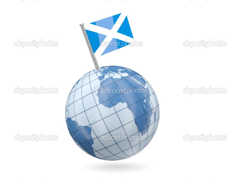 globe with flag of scotland u2014 stock photo mishchenko 43906511