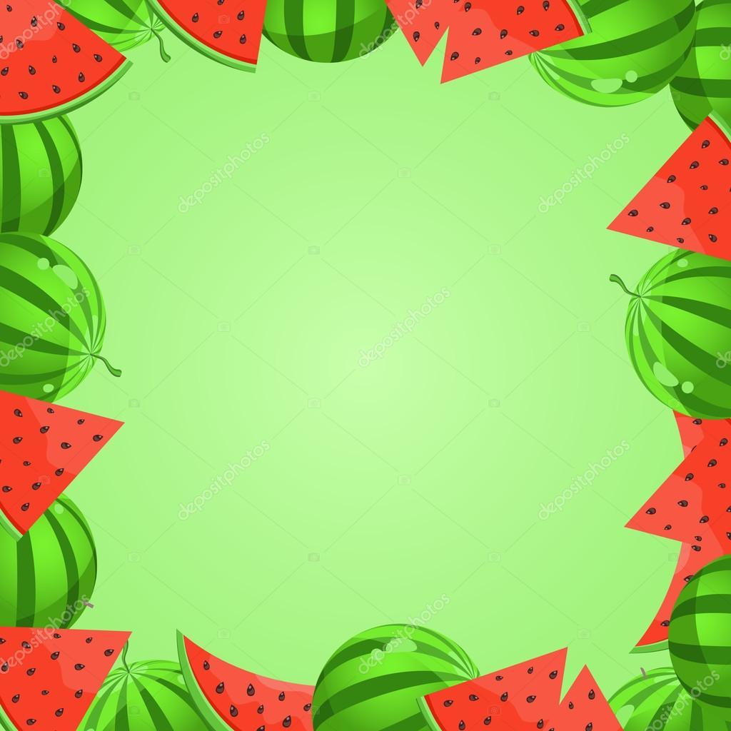 Watermelon Cartoon Frame