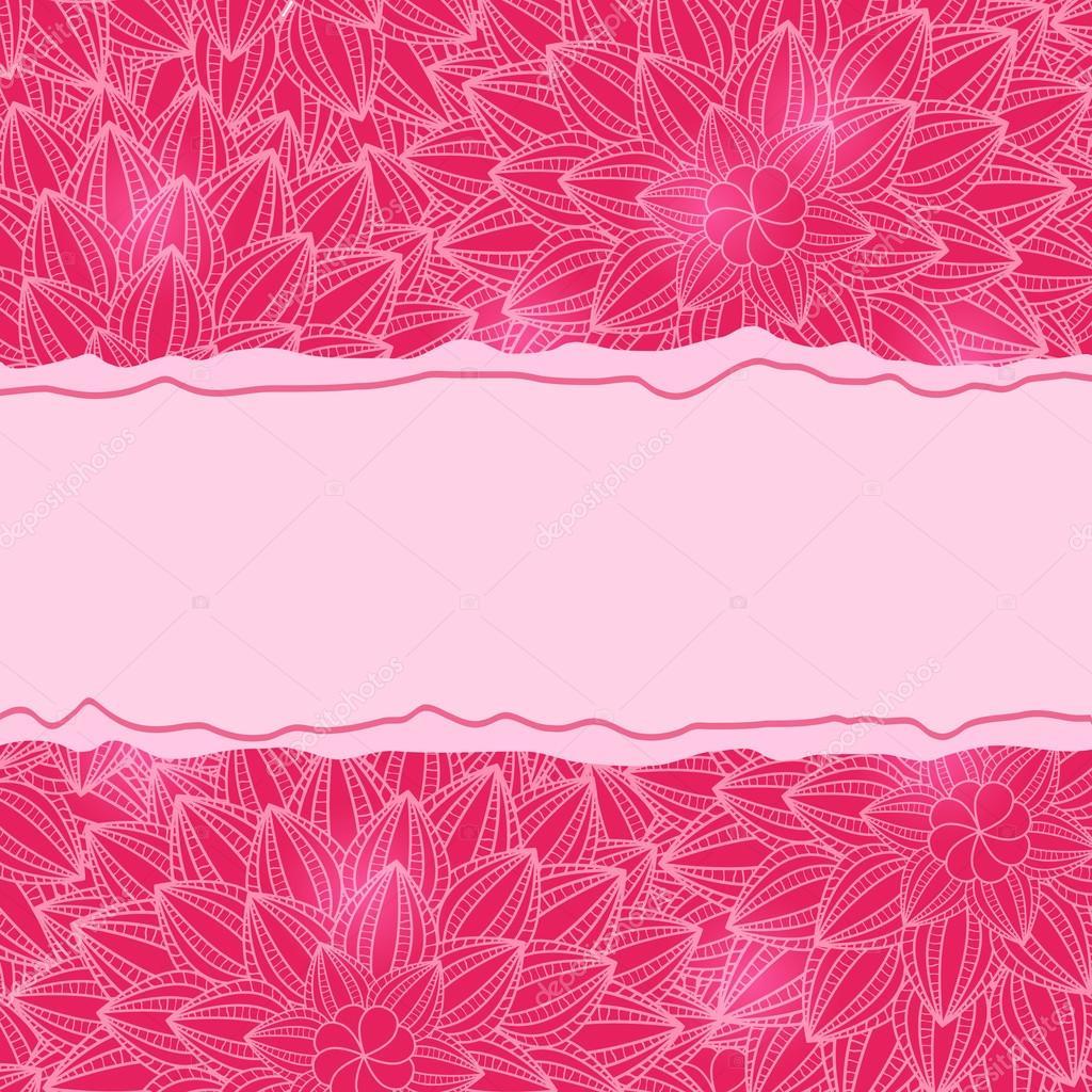 Stylish Pink Card