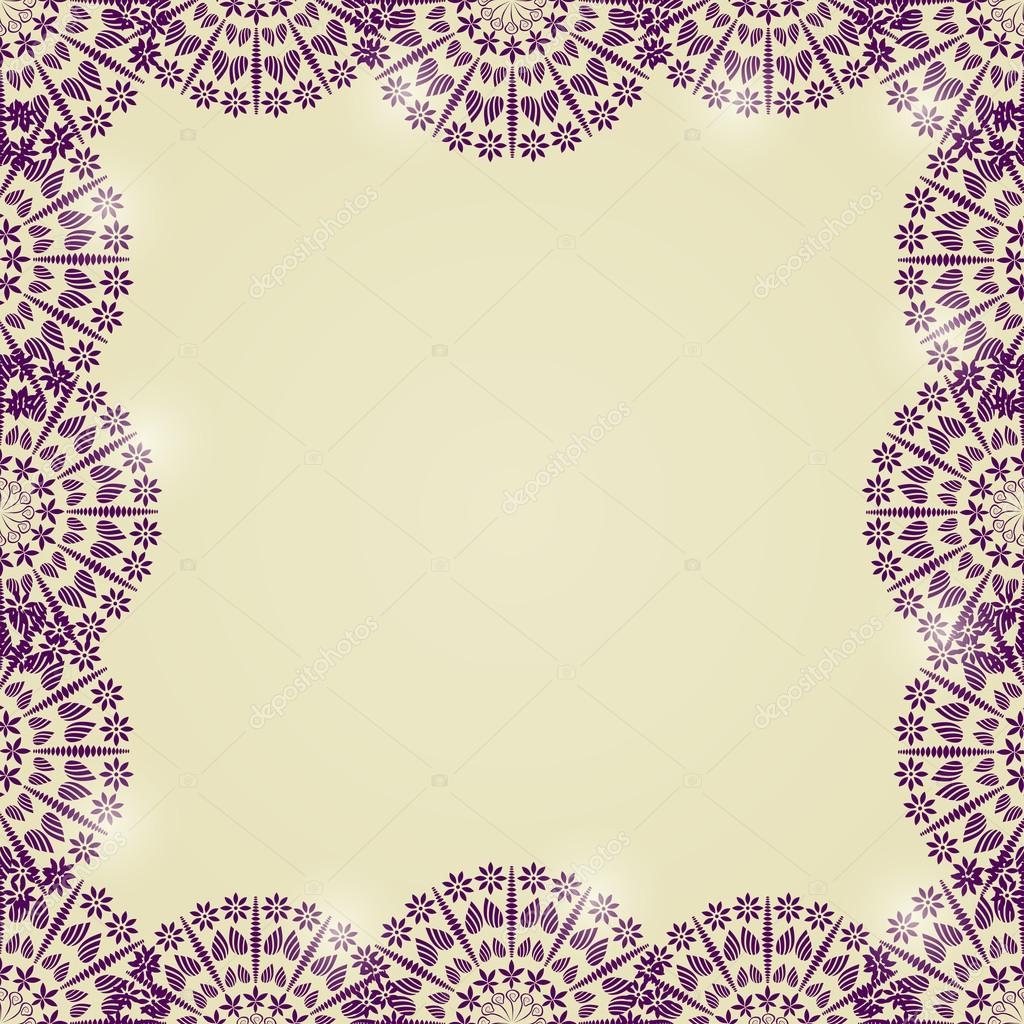 marco hermoso encaje mandala — Vector de stock © nikifiva #37085193