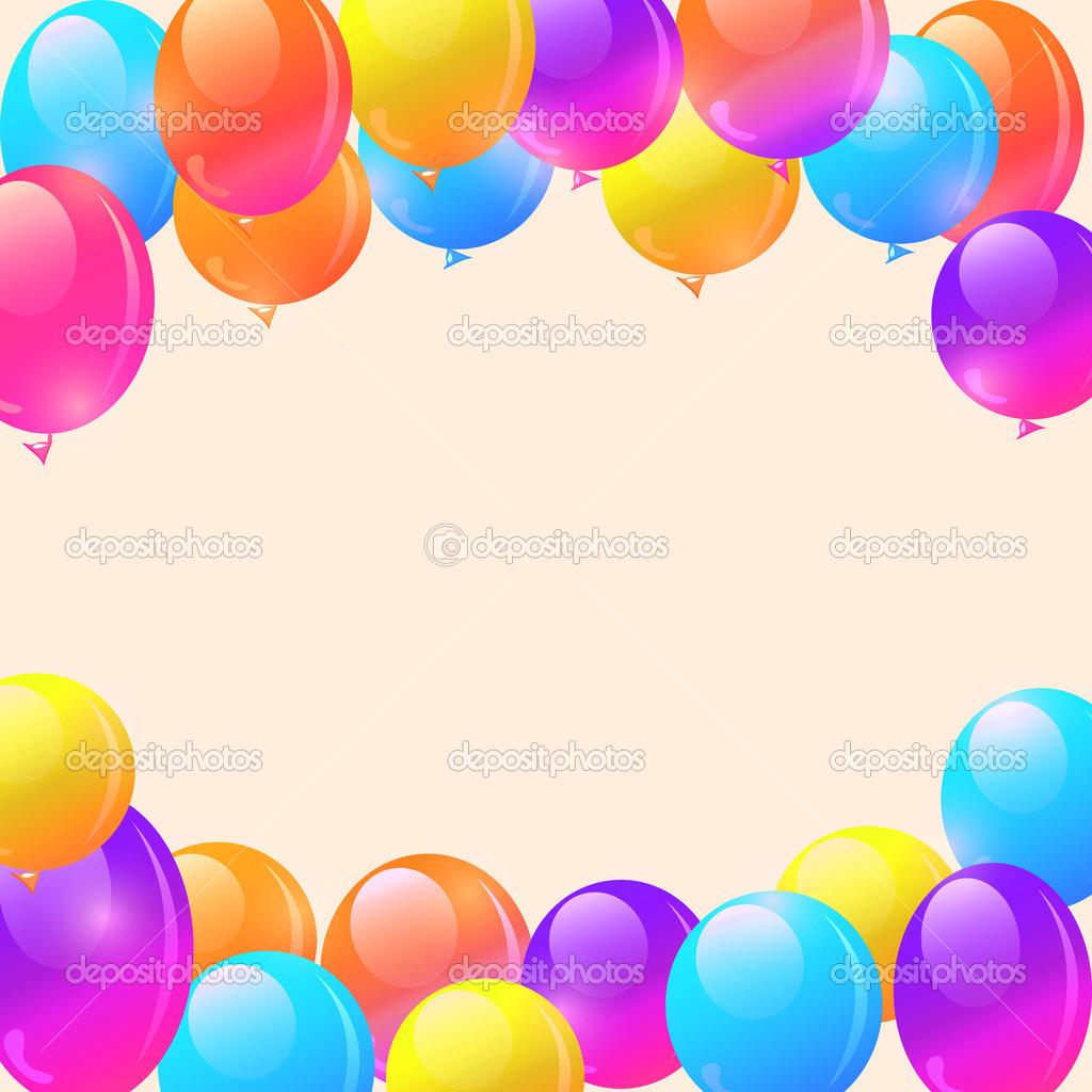 helle Ballon Rahmen Hintergrund — Stockfoto © nikifiva #46505045