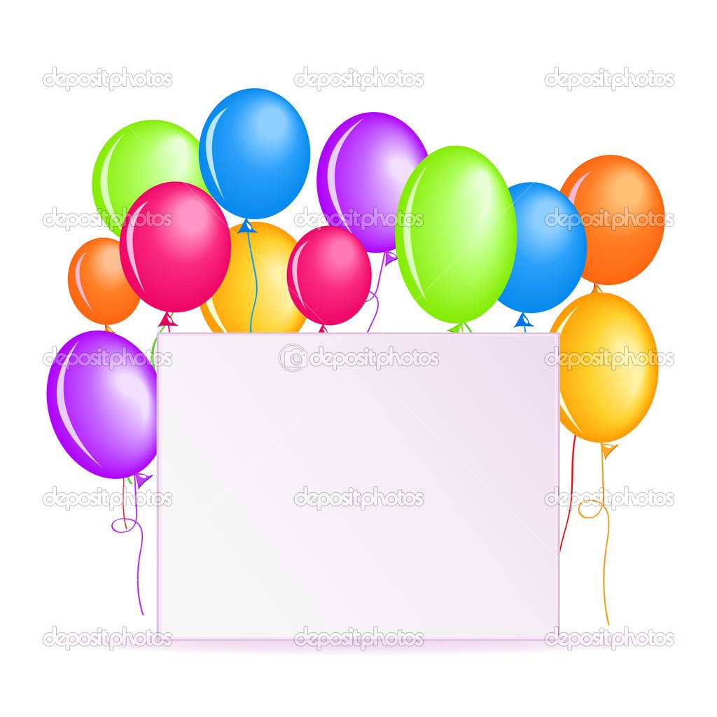 Sfondo di compleanno con palloncini colorati foto stock - Immagine con palloncini ...