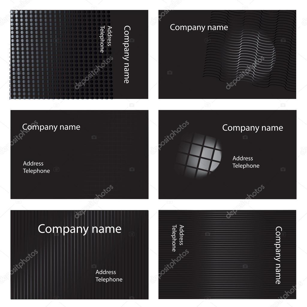 Cartes De Visite Noir Et Blancs Image Vectorielle