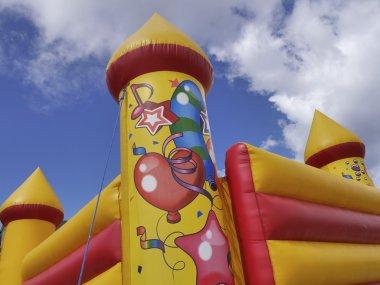 Colorful bouncy castle