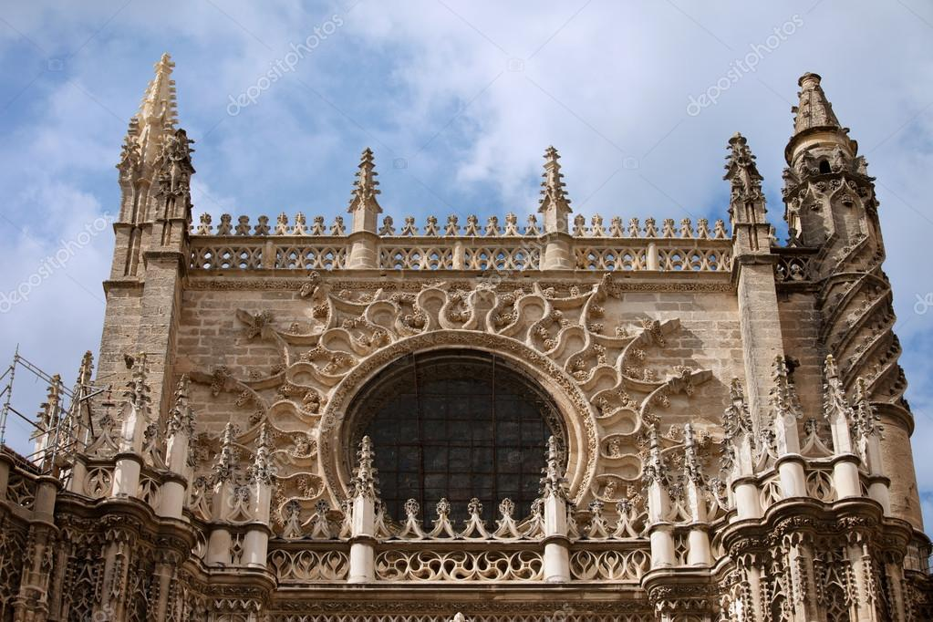 Architectural Details Of The 15 16th Century Gothic Cathedral Seville In Spain Andalusia Region Photo By Rognar