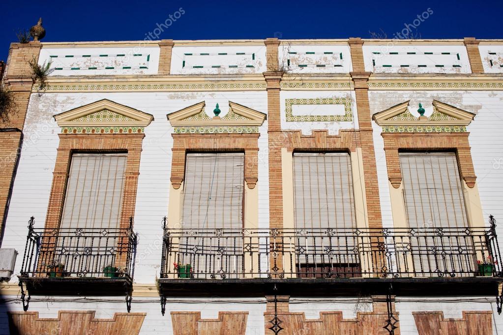 fachada de casa tradiational en Espaa Fotos de Stock rognar