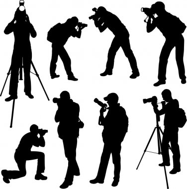 Photographer silhouettes