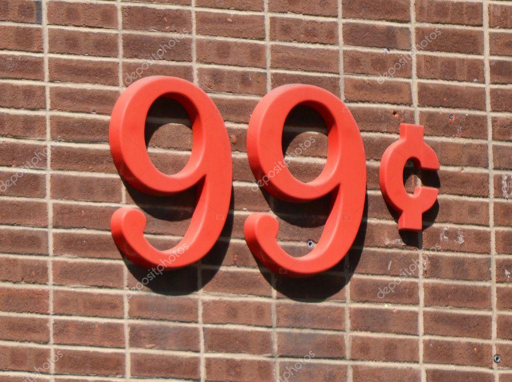 99 Centesimi Foto Stock
