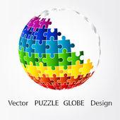 3D puzzle zeměkoule designu