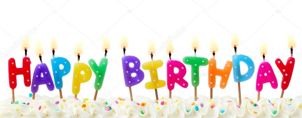 Birthday Cake Candles Stock Photo