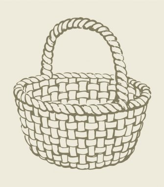 Vector wickerwork basket