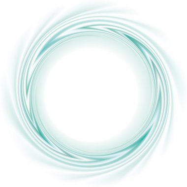 Vector frame with spiral curl the turquoise bands