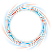 Fotografie Vector background. Abstract round frame of red and blue stripes