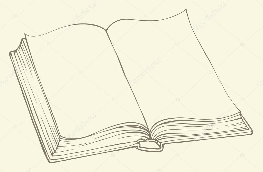 Dibujos: libros abiertos para escribir | dibujo lineal de vectores ...