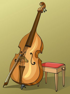 Drawing Double Bass with a bow