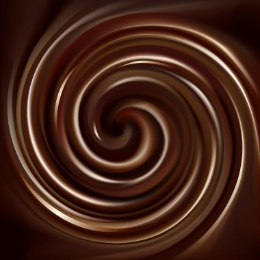 Vector background of swirling chocolate texture