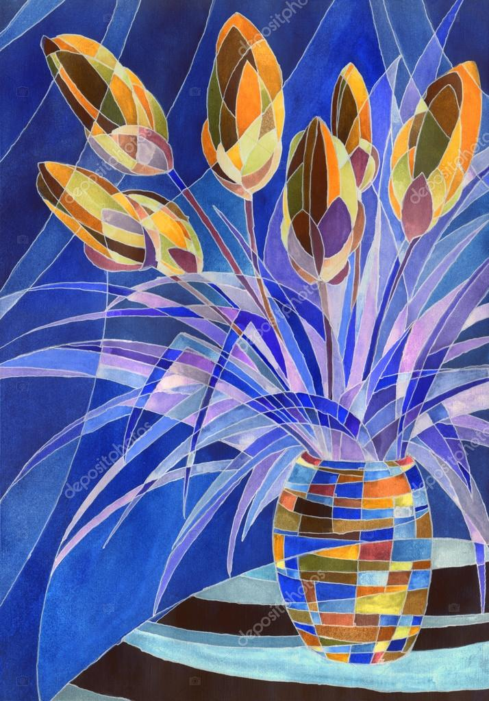 Abstract flowers in a vase — Stock Photo © Marinka #48924347 on abstract oil painting, abstract heart art painting, abstract art paintings by famous artist, sunflower paintings vase, abstract ceramic vases, claude monet flower vase, abstract tulip paintings, pencil drawing still life flowers in a vase, abstract paintings of flowers, abstract art paintings flowers, folk art flower vase, abstract drawings of flowers,