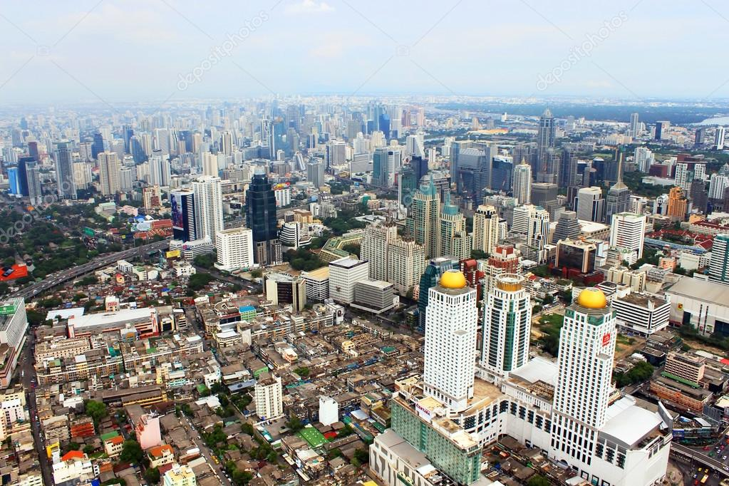 BANGKOK, THAILAND - JUNE 2: Panorama view over Bangkok on Junу