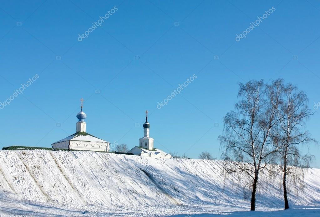 Earthen wall and cathedrals of the Ryazan Kremlin