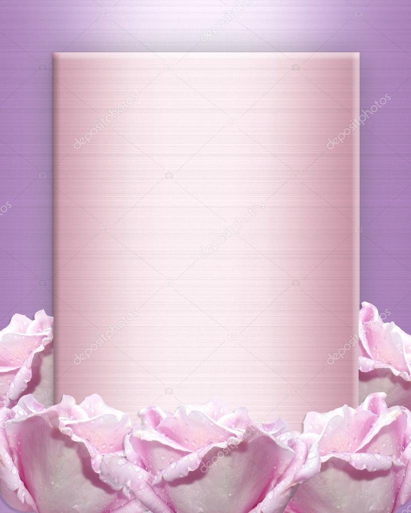 rose wedding invitation background - photo #23