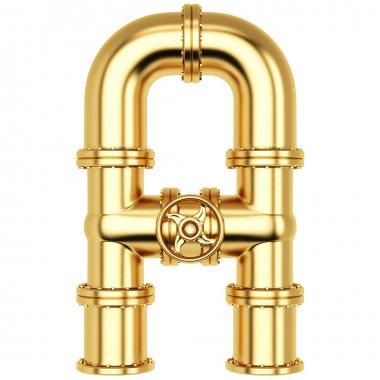 Golden Alphabet A letter