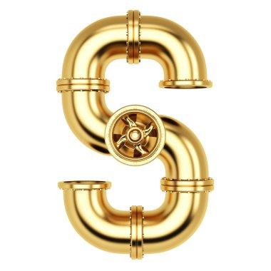 Golden Alphabet S letter