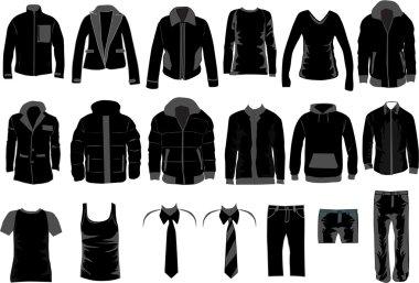 Men Dress Collection , vector work stock vector