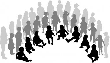 A large group of children