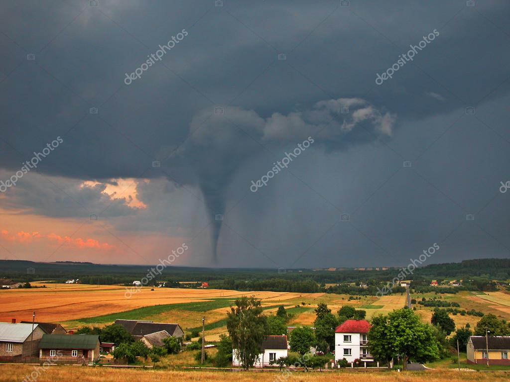 Twister on countryside